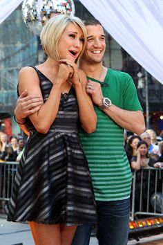 Chelsea Kane & Mark Ballas from a past season of Dancing With The Stars.... I'm obsessed with that show.