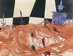 Belladonna of Sadness Blu-ray - Katsuyuki Itô Illustration Girl, Girl Illustrations, Belladonna Of Sadness, Photo Wall Collage, Light Art, Pretty Pictures, Aesthetic Anime, Art Boards, Art Images