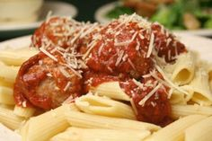 meatball parmesan (recipe uses ground chicken) from Dr Oz website -- and like so many of his recipes, this one has no nutritional info included :(    http://www.doctoroz.com/videos/fake-out-meatball-parm
