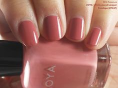Zoya Professional Lacquer in Penelope (swatch by fivezero.ca) [rose, pink, brick]