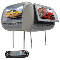 "EliteAutoSound-Sales  - Dual 9"" HD LCD Car Pillow Headrest Monitors DVD Player…"