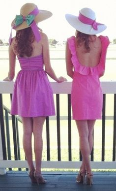 southern style ♥✤ | Keep the Glamour | BeStayBeautiful. Pink Kentucky Derby Looks.  Find Kentucky Derby style of clothing in magazines with Smartsy today. Available on iPhone http://smartsy.co/app