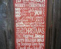 Christmas Sign, Christmas Decor, holiday Sign, christmas words Sign, holiday decor, seasonal decor, holiday sign
