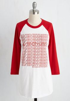 All-Access Path Top - White, Casual, 3/4 Sleeve, Knit, Better, Crew, Long, Red, Lounge, 70s, Music, Festival, Fall, Red, Solid