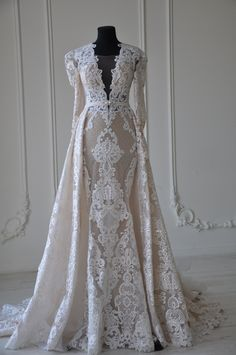 "#weddingdress ""Bohemia"" by Miriams Bride #longsleevebridalgown #laceweddinggown"