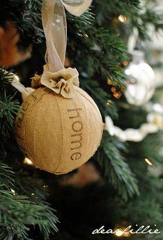 homespun ornaments!