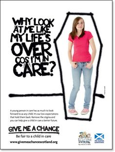 Give Me A Chance Scotland / Who Cares? Who Cares, Scotland, Give It To Me, That Look, Campaign, Children, Poster, Young Children, Boys
