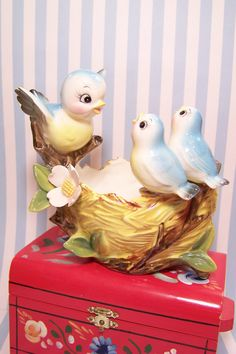 Vintage Norcrest Bluebirds by bluedaisies (I have one of these given to me by Dianne)