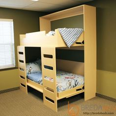 Murphy bunk bed plans Murphy beds do a great job in Leo is a single bunk bed model that combines a hidden bed and a storage shelf Murphy Bunk Beds, Bunk Bed Plans, Modern Murphy Beds, Cool Bunk Beds, Bunk Beds With Stairs, Murphy Bed Plans, Kids Bunk Beds, Modern Beds, Bedrooms