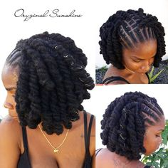 Do you like your wavy hair and do not change it for anything? But it's not always easy to put your curls in value … Need some hairstyle ideas to magnify your wavy hair? Dreads Styles For Women, Curly Hair Styles, Dreadlock Hairstyles, Braided Hairstyles, Black Hairstyles, Locks Hairstyle, Hairstyles 2016, Hair Updo, Wedding Hairstyles