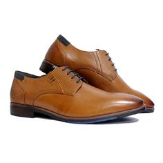 A classic Derby. Crafted with all-natural genuine leather, Pierre Cadrin presents a unique style which blends three different leather textures with small, yet intricate hand-stitched detail on the heel counter. The velvet crust creates an all-natural earthy feel that lends a striking look to this simple design. Don't forget to wear these to your next meeting. Our breathable leather lining neutralises moisture and eliminates odour for a forever –fresh feeling. #derby #tan #laceup #mensfashion