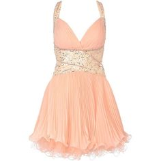 River Island Light Coral Forever Unique Embellished Dress ($235) ❤ liked on Polyvore
