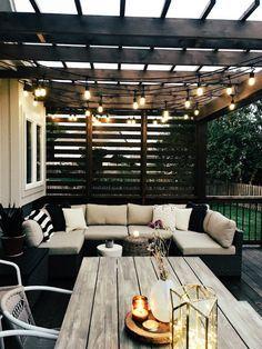 Patio Pergola Design Ideas Wendy Correen Smith: Our New Cedar Deck; Diy Pergola, Deck With Pergola, Covered Pergola, Covered Patios, Small Pergola, Attached Pergola, Modern Patio Design, Design Patio, Modern Deck