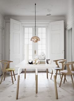 &Tradition Flowerpot Pendant Light by Verner Panton. The original small version of this iconic pendant design. Home Living, Living Spaces, Room Inspiration, Interior Inspiration, Sunday Inspiration, Interior Ideas, Sweet Home, Dining Room Design, Pantone