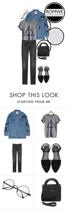 """""""grey geometric"""" by natashaisaacson on Polyvore featuring Julien David, Yves Saint Laurent and Opening Ceremony"""