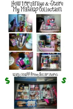 Dollar Store Makeup #Organization