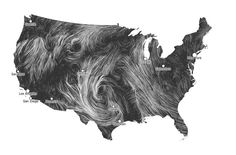 Mapping the wind patterns across the U.S.A. You can click a animated map that shows you wind speeds across the country (has about a 1 hour delay). Also, the article managed to tie in Calvin and Hobbes, which makes it even more awesome.