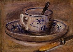 Pierre-Auguste Renoir (1841-1919) - Still life with teacup