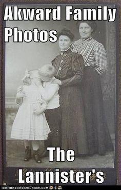 Akward Family Photos  The Lannister's