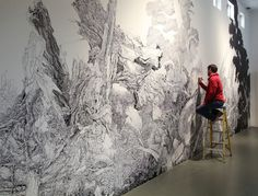 Sprawling Nature-Inspired Mural Drawn Entirely with a Sharpie - My Modern Metropolis