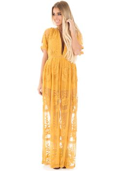Lime Lush Boutique - Dandelion Yellow Embroidered Lace Maxi Dress, $74.99 (https://www.limelush.com/dandelion-yellow-embroidered-lace-maxi-dress/)