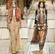 Etro 2017 Spring Summer Womens Runway Catwalk Looks - Milano Moda Donna Collezione Milan Fashion Week Italy - Art Deco Bohemian Boho Chic Coat Robe Poncho Cloak Cape Parka Hanging Sleeve Stripes Decorative Art Paisley Knee Pads Maxi Dress Goddess Gown Drawstring Tassels Flowers Floral Satin Crop Top Midriff Fringes Knitwear Rope Wrap Shorts Embroidery Bedazzled Beads Shirtdress Jacket Pleats Halterneck Bangles Bracelet Necklace Pendant Handbag Braid Belt Train Bike Bucket Hat Boots