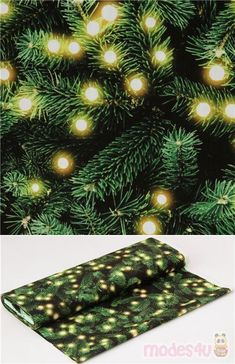 """cotton fabric with fir trees and bright lights, Material: 100% cotton, Fabric Type: smooth cotton printed sheeting fabric, Pattern Repeat: ca. 30cm (11.8"""") #Cotton #Circles #Dots #Spots #Flower #Leaf #Plants #Christmas #JapaneseFabrics Kawaii, Fir Tree, Christmas Fabric, Tree Lighting, Bright Lights, Cotton Lights, Fabric Patterns, Cotton Fabric, Toile"""