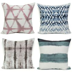Add a punch of pattern to your holiday decor! #thepatterncollective #shibori #designerpillows www.thepatterncollective.com