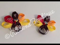 """▶ HOW TO: Make a """"Thanksgiving Turkey"""" Hair Clip - YouTube"""