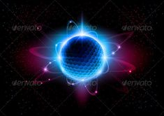 The central nucleus are surrounded by a cloud of negatively charged electrons.
