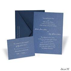 Blue Shimmer Wedding Invitation