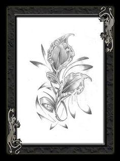 Calla Lily Flower Tattoos | Calla Lily Flowers Tattoo Design – gorgeous black calla flower ...