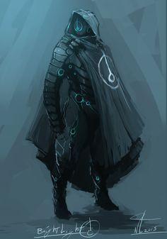 Brightlight by Naznamy on DeviantArt concept art character design illustration assassin soldier cyborg droid robot