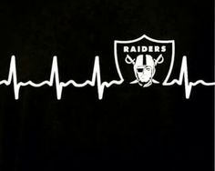 MY HEART PUMPS FOR MY RAIDERS