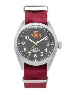 Iowa State Cyclones Men's Solid NATO Strap Watch