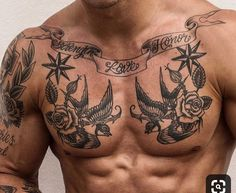 Tattoos for men Small Chest Tattoos, Chest Piece Tattoos, Small Forearm Tattoos, Arm Sleeve Tattoos, Forearm Tattoo Men, Chest Tattoos For Men, Tattoo Small, Meaningful Tattoos For Men, Simple Tattoos For Guys