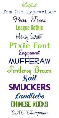 WhimsiKel: Fun with Fonts 2  ~~  {14 FREE fonts w/ download links}