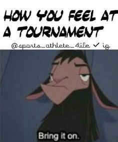 How I feel every time I go to a soccer or lax tournament