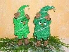 Häkelanleitung geknickter Weihnachtsbaum
