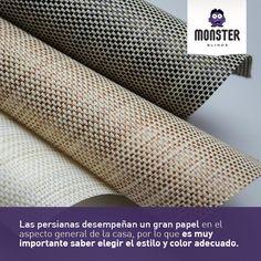 Es importante saber elegir las persianas de tu casa. #monsterblinds #decoracion #estilo #casa #hogar #persianas #blinds #design #interiordesign #remodela #colores #formas #texturas