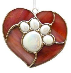 Paw in heart necklace pendant