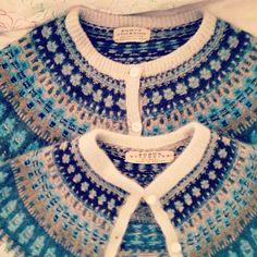 Översta Bohuskoftan är i ullgarn, den nedre i angora/ull. #bohusknitting #bohusstickning #latapigan #vintage #vintagefashion #retro #retrofashion Retro Fashion, Vintage Fashion, Swedish Fashion, Quick Knits, Fair Isle Pattern, Fair Isle Knitting, Yarn Projects, Vintage Knitting, Yarn Crafts