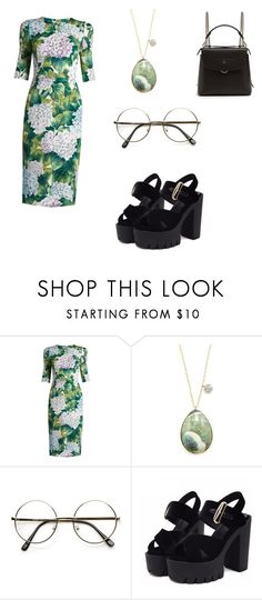 """""""Untitled #634"""" by nikkirozaye on Polyvore featuring Dolce&Gabbana, Meira T and Fendi"""