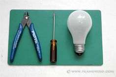 How to clean out a light bulb to use for DIY projects.