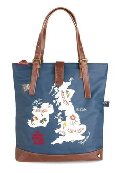 6de3c5960b Archipelago the Distance Tote by Disaster Designs - Faux Leather, Blue,  Multi, Novelty