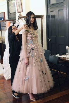 Backstage at Once Upon A Dream, Paolo Sebastian Couture Collection. Couture Dresses, Fashion Dresses, Pretty Dresses, Beautiful Dresses, Fairytale Gown, Paolo Sebastian, Collection Couture, Prom Dresses, Formal Dresses