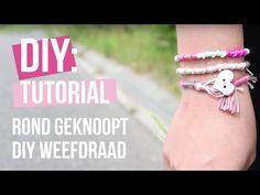 Rondgeknoopt DIY weefdraad armbandje maken