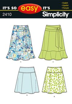 Simplicity Creative Group - It's So Easy Misses Skirts