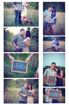 chalk board engagement session