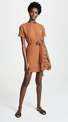 470f9c3443f532 J.O.A. Tie Front Short Sleeve Dress   15% off 1st app order use code